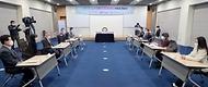 성윤모 산업통상자원부 장관이 23일 오전 서울 중구 대한상공회의소에서 열린 '힘내요 대한민국 코세페(코리아세일페스타) 하이파이브 기부금 전달식'에서 인사말을 하고 있다.