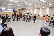 황기철 국가보훈처장이 9일 오전 정부세종청사 9동 국가보훈처에서 열린 제2기 정부혁신 어벤져스 발대식에 참석하여 격려말씀을 하고 있다.