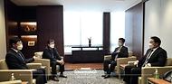 이호승 청와대 정책실장이 7일 서울 중구 대한상공회의소를 방문해 최태원 대한상의회장과 면담하고 있다.