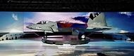 한국형 전투기 보라매(KF-21) 시제기가 9일 경남 사천시 한국항공우주산업(KAI) 고정익동에서 열린 출고식에서 모습을 드러내고 있다.
