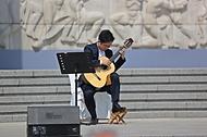 19일 오전 서울 강북구 국립 4·19민주묘지에서 열린 제61주년 4·19혁명 기념식에서 기념공연을 하고 있다.