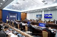 문재인 대통령이 27일 오후 청와대에서 열린 '2021 국가재정전략회의'에서 발언하고 있다.