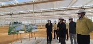 김현수 농림축산식품부 장관이 9일 오후 경북 상주시 스마트팜 혁신밸리 조성 현장을 찾아 진행 상황을 점검하고 있다.
