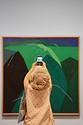 <p><br>13일 오전 대구미술관을 찾은 한 관람객이 이건희 컬렉션 특별전 '웰컴 홈: 향연 饗宴' 전시회에서 유영국의 작품 '산(1970's)' 작품을 감상하고 있다.</p> <p>이번 특별전은 이건희 컬렉션 중 대구에 기증된 21점과 대구미술관 소장 및 대여 작품 등 40여 점이 전시되고 있다. 특히, K팝 그룹 방탄소년단(BTS)의 멤버 RM(김남준)이 유영국 작품의 '산(1970's) 시리즈를 감상하는 모습을 담은 인증샷이 화제를 모으면서 특별전에 대한 인기를 모으고 있다. </p> <p>전시는 코로나19 방역 수칙 준수를 위해 사전 예약후 무료 관람이 가능하다. 관람 인원 수는 회차(1일 6회차 운영; 10시, 11시, 13시, 14시, 15시, 16시)당 140명으로 하루 총 840명이다. </p> <p>이번 특별전은 오는 29일까지 열린다.</p>