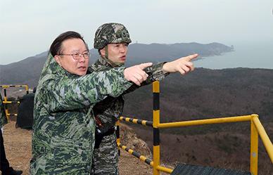 김부겸 행정안전부 장관, 백령도 안보점검