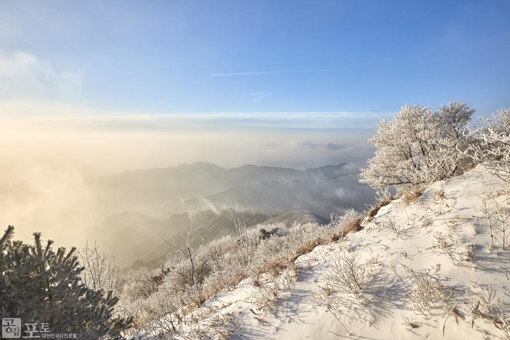 충북 단양과 경북 풍기 사이에 위치한 소백산 비로봉은 겨울 설산 트레킹의 성지로 꼽히고 있다. 소백산은 눈꽃으로 명물인 산이다. 겨울 등산을 좋아하는 사람이라면 꼭 가봐야 할 곳이다.