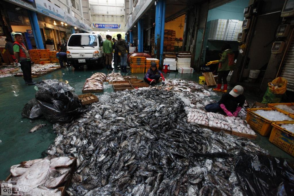 여수 중앙선어시장은 이순신 광장 옆에 위치한다. 각종 해산물을 저렴한 가격에 구입할 수 있다. <br/> <br/> -대한민국 테마여행 10선 '남도바닷길' : 여수