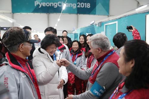 김정숙 여사, 평창동계올림픽 자원봉사자 격려