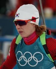 바이애슬론 여자 추적 10km 메달 경기- 한국의 안나 프롤리나 출전 [2018 평창 동계올림픽대회]