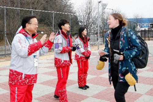 평창올림픽이 펼쳐지는 컬링센터 자원봉사 참여