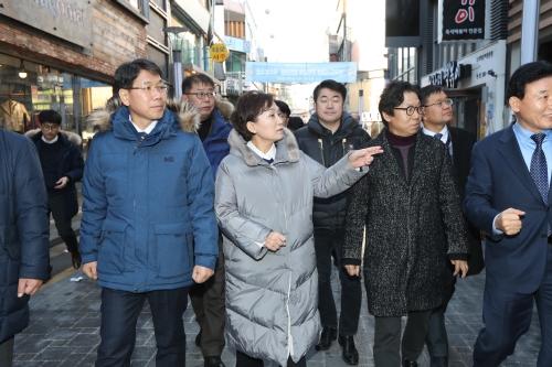 대전 도시재생 사업지역 및 지역 상가 방문
