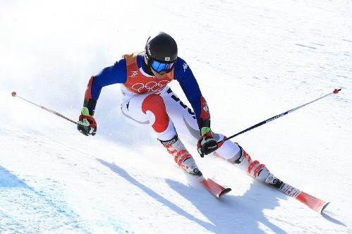 알파인스키 남자 대회전 메달 경기, 김동우 선수 출전