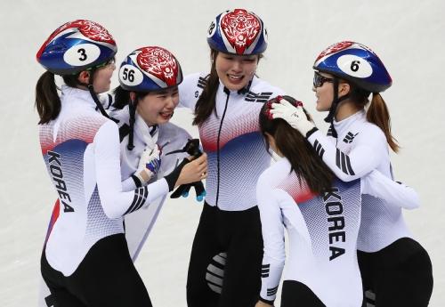 쇼트트랙 여자 3,000m 계주 결승 경기, 한국 선수 금메달