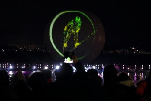 평창문화올림픽 프로그램인 라이트아트 쇼 '달빛호수'