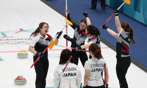 컬링 여자 준결승 일본과의 경기, 한국 결승 진출