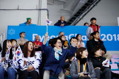김정숙여사, 2018 평창 동계패럴림픽 아이스하키 경기관람