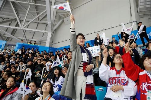 김정숙 여사, 2018 평창 동계패럴림픽 아이스하키 관람