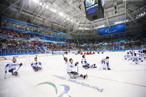 2018 평창동계패럴림픽 아이스하키 대한민국 대 캐나다 준결승 경기
