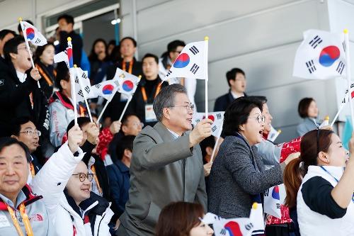2018 평창 동계패럴림픽 크로스컨트리 예선전 경기 관람
