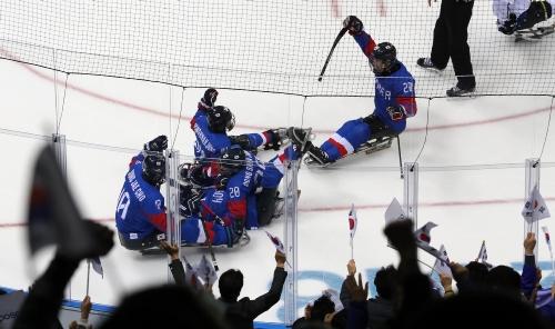2018 평창동계패럴림픽 아이스하키 동메달 결정전 대한민국 대 이탈리아 경기