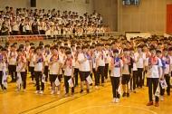 8일 서울 종로에 위치한 중앙고등학교 대강당에서 열린 제92회 6.10독립만세운동 기념식에 참석한 심덕섭 국가보훈처 차장이 참석하여 주요내빈 및 각계인사들과 중앙고등학교 학생들과 함께 국민의례를 하고 있다.