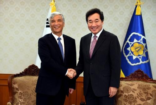 딩 중리 중국 전인대 부위원장 접견