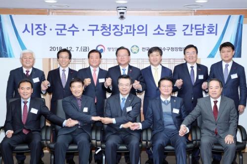 전국 시장·군수·구청장협의회 소통 간담회
