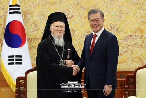 바르톨로메오스 정교회 세계 총대주교 접견