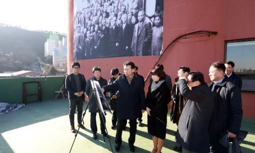 조달청장, 대한민국 임시정부 기념관 건립 현장 방문