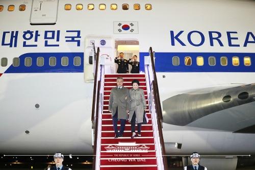 서울 공항 도착 행사