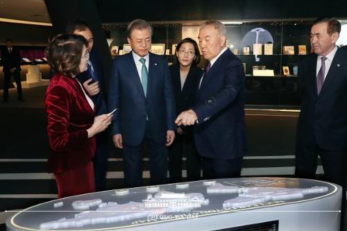 나자르바예프 초대 대통령 면담