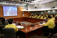 이낙연 국무총리가 14일 세종로 정부서울청사에서 열린 을지 태극연습 준비 보고회의를 주재하고 있다.