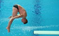 12일 오전 남부대 시립국제수영장에서 김영남 선수와 우하람 선수가 각국 선수들과 다이빙 남자 1m 스프링보드 예선 경기를 하고 있다.