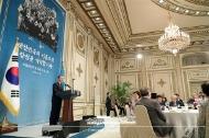 문재인 대통령이 8월 13일 청와대 영빈관에서 열린 독립유공자 및 후손 초청 오찬에서 인사말하고 있다.