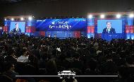 문재인 대통령이 5일 서울 강남구 삼성동 코엑스에서 열린 제56회 무역의날 기념식에서 축사하고 있다.