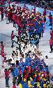 9일 스위스 로잔 보두아즈 아레나에서 열린 2020 로잔 동계청소년올림픽 개막식에서 대한민국 선수단이 입장하고 있다.
