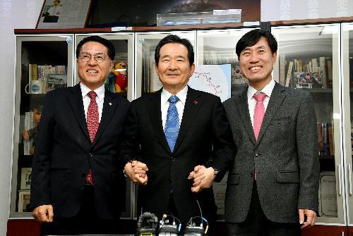 하태경 새로운보수당 책임대표 및 정운천 공동대표 예방