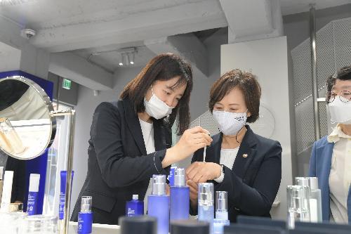 맞춤형화장품 현장방문 및 CEO 간담회