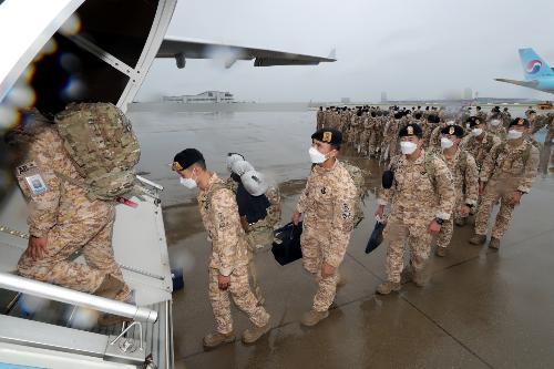 아크부대 16·17진, 해외파병부대 최초 공중급유기 활용 진교대