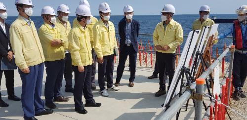 신안 가거도항 태풍 피해 현장 점검