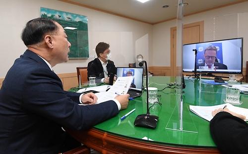 홍남기 부총리, IMF 한국 미션단장과 화상면담