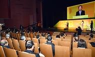 정세균 국무총리가 28일 대구문화예술회관에서 열린 2·28 민주운동 기념식에 참석, 기념사를 하고 있다.