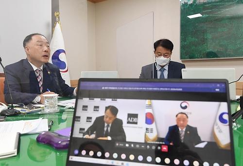 아사카와 아시아개발은행(ADB) 총재와 협조융자 확대 MOU 서명 및 양자면담