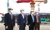 울산 북항 동북아 에너지허브 건설현장 방문