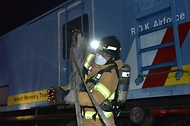 야간 항공기 화재 소방훈련 사진 6