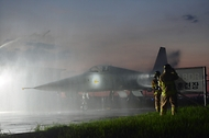 야간 항공기 화재 소방훈련 사진 3