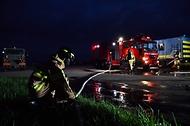 야간 항공기 화재 소방훈련 사진 4