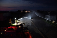 야간 항공기 화재 소방훈련 사진 2
