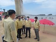 충남지역 고수온 대응 및 해수욕장 방역 점검 사진 3
