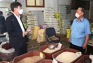 류근관 통계청장, 추석 앞두고 전주 남부시장 방문